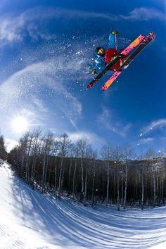 One from the archives. Sean Jordan skiing on sunny park day at Park City, Utah 2010 by Alex OBrien. K2 Skis Facebook photo of the day on 2/9/12