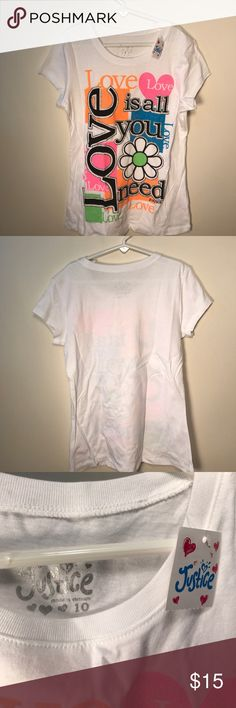 Justice t-shirt girls size 10 Size 10. New with tags. Justice Shirts & Tops Tees - Short Sleeve