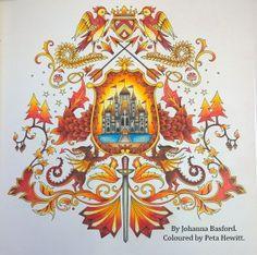 Enchanted Forest Johanna Basford Coloured By Peta Hewitt