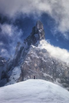 Cimon della Pala is the second highest summit of the Pale di San Martino Group in the Dolomites