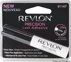 Revlon Precision Lash Adhesive is a waterproof and LATEX-FREE glue for false strip eyelashes. The new ultra thin brush tip allows for mess-free application. Best False Eyelashes, Applying False Eyelashes, Best Lashes, Fake Lashes, Natural Eyelashes, Beautiful Eyelashes, Revlon, Best Eyelash Glue, Sensitive Eyes
