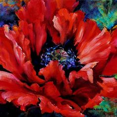 """""""Kiss"""" Oil on Canvas, """"von Mila Kovac in der Crescent Hill Gallery in Mississau … - Malerei Kunst Oil Painting Flowers, Abstract Flowers, Watercolor Flowers, Painting & Drawing, Watercolor Paintings, Art Floral, Box Art, Art Pictures, Photos"""