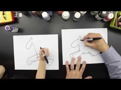 ▶ How To Draw A Unicorn (a cute and cuddly one) - YouTube
