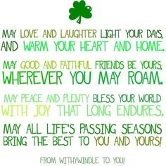 Happy St. Paddy's Day my friends!!