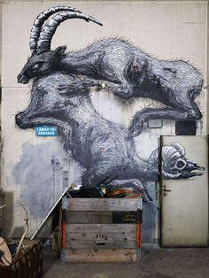 Artist ROA - Belgian Artist ROA created the 'Defragmentation' instillation for Scarlett Gallery. Normally working in street art and using concrete as ...
