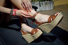 zapatos plataformas cuero yute mujer