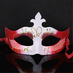Italy! Venetian Mask Gold Nika Made In Venice