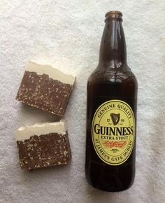 Guinness Oatmeal Stout Soap.  This fragrance smells positively edible! It's a full bodied and smooth beer fragrance blended with Creamy Oatmeal, Orange Peel, Butterscotch, Farm-fresh Milk, Nutty Almond and Rich Vanilla.  Handmade Soap made with Guinness Beer, Coconut oil, Olive oil, Palm oil, l...