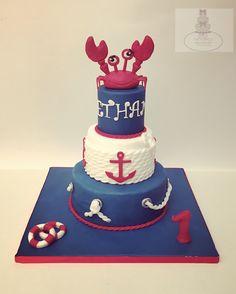 Navy baby cake