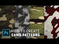 Video: How To Create Custom Camouflage Patterns in Photoshop Photoshop Youtube, Photoshop Tips, Photoshop Tutorial, Photoshop Filters, Camouflage Patterns, Camo Designs, Fabric Textures, Graphic Design Tutorials, Texture Painting