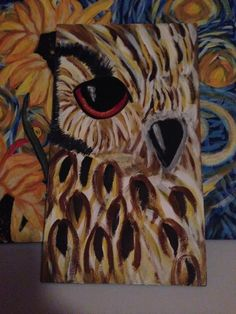 Jessica has an all seeing owl and sunflowers paintings #hartparty