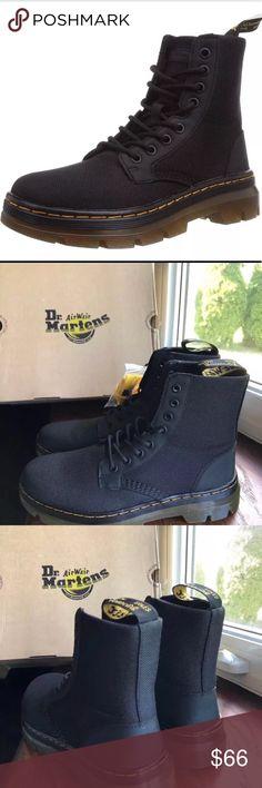 Dr Martens Mens Combs Nylon Combat Boot Black 13 UK//14 M US