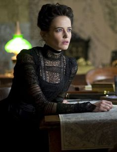 Eva Green as Vanessa Ives in Penny Dreadful. I love her goth Victorian gowns.