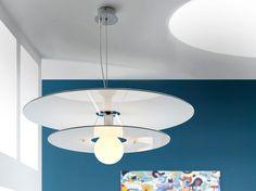 Lamparas modernas originales LUNA redonda doble. Iluminación Beltran, tu tienda de decoracion de lamparas en internet.