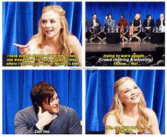 Emily Kinney talking about a dream she had about Norman Reedus | The Walking Dead Bethyl - Normily