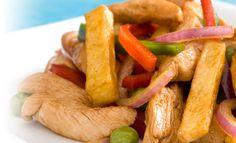 Instrucciones, detalles e imágenes sobre la preparación de la receta de Salteado de pollo en PRONACA Procesadora Nacional de Alimentos