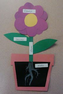 A two sided project; this is the back, and the front is just the flower...great for both kids