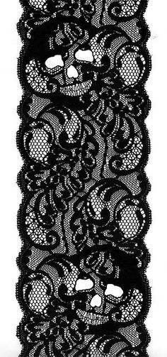 DIA DE LOS MUERTOS/DAY OF THE DEAD~Skull Lace