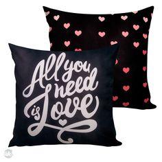 CAPA DE ALMOFADA SOFT - ALL YOU NEED IS LOVE -
