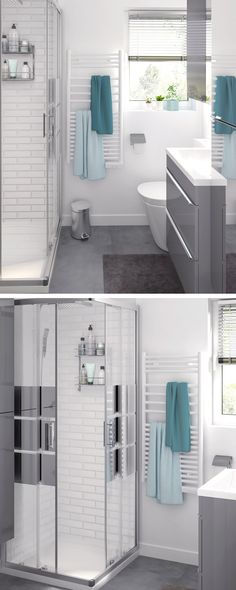 Let's talk about shower power. Give your bathroom style a boost with metro tiles and modern storage units.