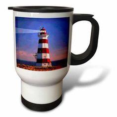 3dRose Light House, Travel Mug, 14oz, Stainless Steel