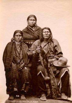 Comanche Chief - Buffalo Hump and his family.