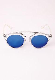 ZHANG Lunettes de soleil monture ronde couvrant ses dames de visage lunettes de soleil femme lunettes personnalité de la mode rétro, 5