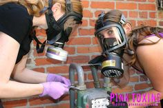 Full Face Mask, Face Masks, Gas Mask Girl, Respirator Mask, Female, Safety, Girls, Women, Tropical Wallpaper