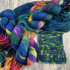 6 available ~I originally dyed this colorway on a sock weight base, now it's available on a worsted weight base.Wilma Worsted - a new base that is the exact same is Whopper Worsted, but...