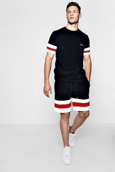 Camisa Polo, Casual T Shirts, Men Casual, Velour Shorts, Mens Cotton Shorts, T Shirt And Shorts, Polo T Shirts, Mens Clothing Styles, Sport Outfits