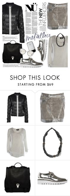 """Metallics/Nu-Denmark"" by helenevlacho ❤ liked on Polyvore featuring Proenza Schouler, STELLA McCARTNEY, Oliver Peoples, women's clothing, women's fashion, women, female, woman, misses and juniors"