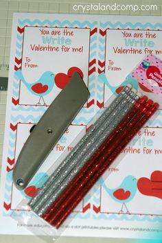 kids valentine crafts (free printable pencil holder)