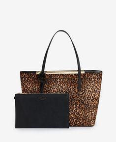 32cd811fc78c Small leather shopper bag Bekleidung, Braune Tasche, Shopper Tasche, Ted  Baker, Balenciaga