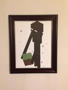 Minecraft Enderman Cardstock Print by Picks4You on Etsy, $7.77