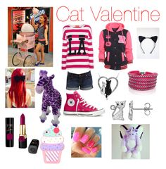 A fashion look from July 2015 featuring Miss Goodlife sweaters, AX Paris jackets and 7 For All Mankind shorts. Browse and shop related looks. Teenager Outfits, Girly Outfits, Chic Outfits, Kids Outfits, Fashion Outfits, Victorious Cat, Cat Valentine Victorious, Cat Valentine Outfits, Kawaii Clothes