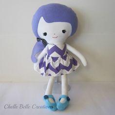 Purple Girl Softie Doll