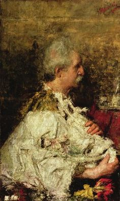 'The Maker Of Figures' by Antonio Mancini (1852-1930, Italy)