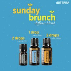 Sunday Brunch Diffuser blend with doTERRA essential oils