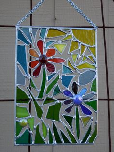Stained Glass Panel abstract with by DesertGirlGlass on Etsy