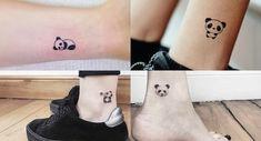 tatuajes de oso panda 6 Tiny Tattoos For Girls, Tattoos For Daughters, Sister Tattoos, Little Tattoos, Ankle Tattoo Designs, Unique Tattoo Designs, Small Animal Tattoos, Small Tattoos, Ohana Tattoo