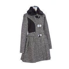 b39c32d99e5 Betsey Johnson Wool-Blend Walker Coat Burlington Coat Factory