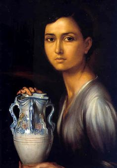 Julio Romero de Torres. Love the color of her skin, wish I could paint skin like this. Pintor cordobés 1874+1930