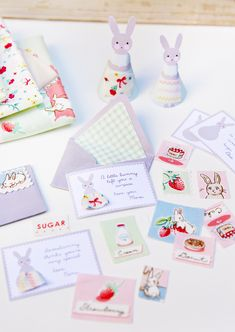 Somebunny Loves You: Mini Bunny Card & Envelope