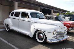 https://flic.kr/p/8AngNC | 1948 Plymouth 4-dr sedan - white - fvr | Enderle Center - Tustin, CA
