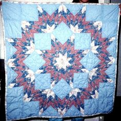 Star baby quilt for Jessica hand quilted