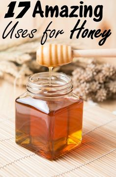 17 Amazing Uses for Honey - Did you know you can use honey for more than just cooking with? I share the top 17 ways you can use honey around the house to save money! You will never look at honey the same again! Pure Honey Benefits, Benifits Of Honey, Honey Health Benefits, Natural Honey, Raw Honey, Honey Uses, Honey Recipes, Natural Health Remedies, Just Cooking