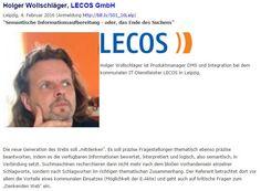 """Vortrag Holger Wollschläger, LECOS, auf dem """"Update Information Management 2016"""" in Leipzig"""