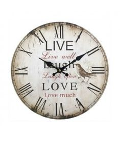 Ceas perete Live, laugh, love #ceas #decoratiuni #casanoua #cadouri Shabby Chic Wall Clock, Vintage Shabby Chic, So Much Love, Wall Clocks, Ebay, Design, Home Decor, Garden, Kitchen