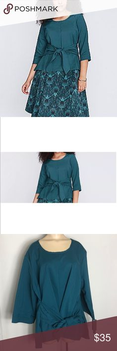 4c686a748339 Mellisa McCarthy tie front top 3x Brand New With Tags! Melissa McCarthy  Seven7 for Lane