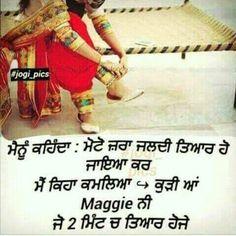 Punjabi Jokes, Punjabi Funny, Girly Quotes, Me Quotes, Desi Love, Punjabi Couple, Funny Qoutes, Relationship Goals, Relationships